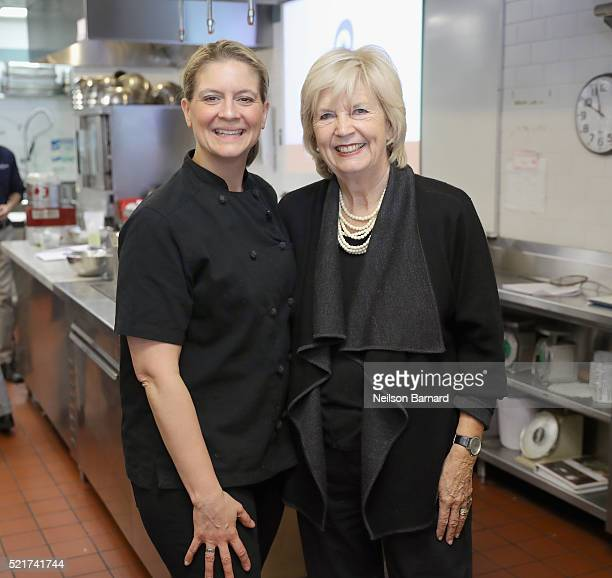 Chef Amanda Freitag and Culinary Editor of New York Magazine Gillian Duffy attend The 8th Annual New York Culinary Experience Presented By New York...