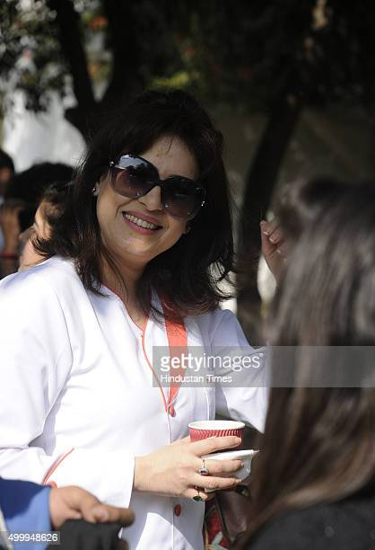 Chef Amrita Raichand during Hindustan Times The Gourmet High Street at Sector29 Leisure Valley Ground on December 4 2015 in Gurgaon India