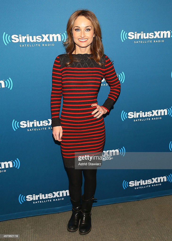 Chef and cookbook author Giada De Laurentiis is interviewed for SiriusXM's Leading Ladies hosted by SiriusXM host Jenny Hutt at SiriusXM Studios on December 16, 2013 in New York City.