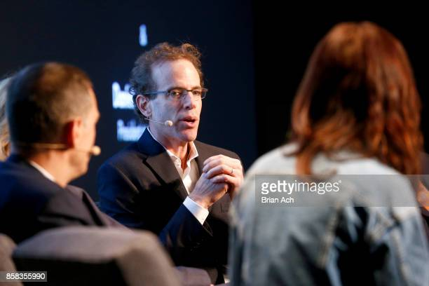 Chef and CoOwner of Blue Hill Dan Barber speaks onstage during the 2017 New Yorker TechFest at Cedar Lake on October 6 2017 in New York City