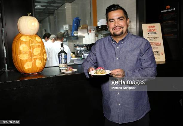 Chef and event host Aaron Sanchez attends Food Network Cooking Channel New York City Wine Food Festival Presented By CocaCola Tacos Tequila presented...