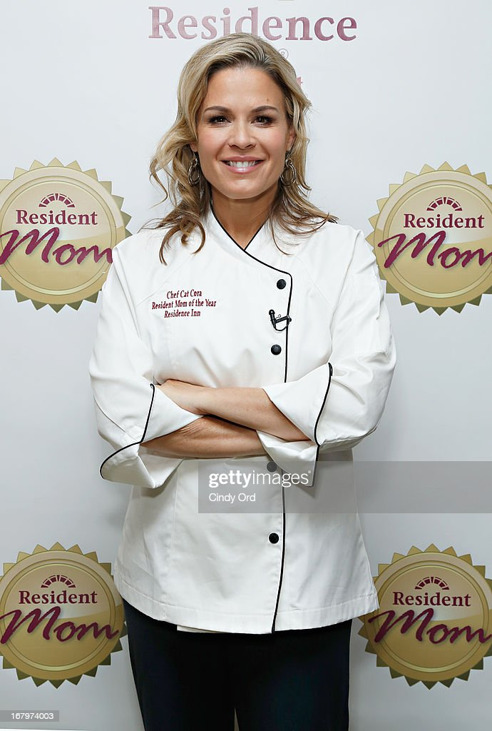 Chef and lifestyle entrepreneur Cat Cora receives the 2013 Resident Mom of the Year award at Residence Inn by Marriott on May 3, 2013 in New York City.