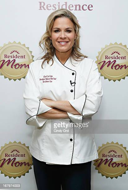 Chef and lifestyle entrepreneur Cat Cora receives the 2013 Resident Mom of the Year award at Residence Inn by Marriott on May 3 2013 in New York City