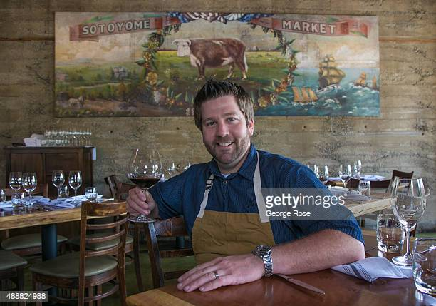 Chef and owner Dustin Valette sits in his new restaurant Valette as viewed on March 30 near Healdsburg California Despite record breaking December...