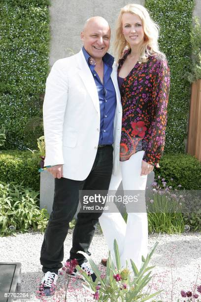 Chef and restauranteur Aldo Zilli and Nikki Zilli visits the Chelsea Flower Show at Royal Hospital Chelsea on May 18 2009 in London England