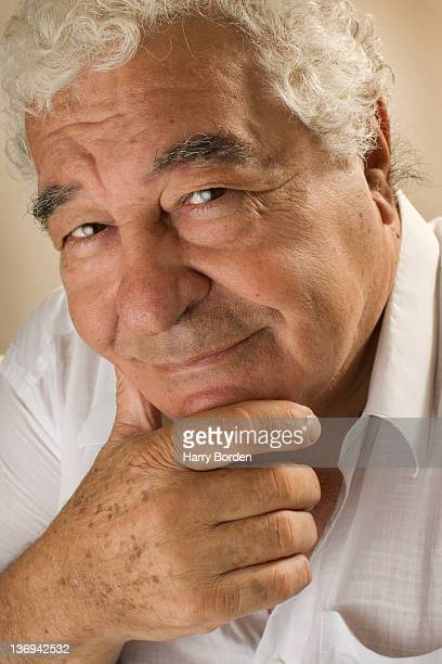 Chef and restaurateur Antonio Carluccio is photographed for Saga magazine for on July 23 2005 in London England