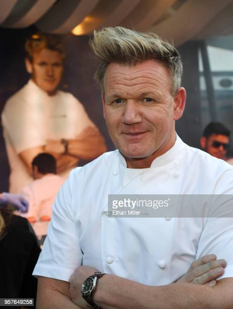 Chef and television personality Gordon Ramsay attends the 12th annual Vegas Uncork'd by Bon Appetit Grand Tasting event presented by the Las Vegas...