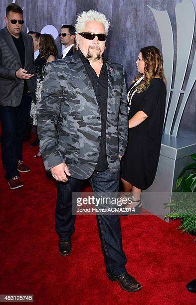 Chef and television personality Guy Fieri attends the 49th Annual Academy of Country Music Awards at the MGM Grand Garden Arena on April 6 2014 in...