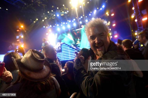 Chef and television personality Guy Fieri attends the ACM Fan Jam during the 49th Annual Academy of Country Music Awards at the Mandalay Bay Events...