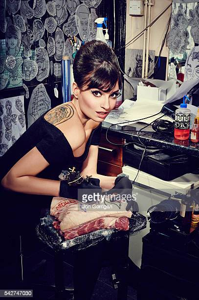 Chef and tv presenter Gizzi Erskine is photographed for Phoenix magazine on April 5 2013 in London England