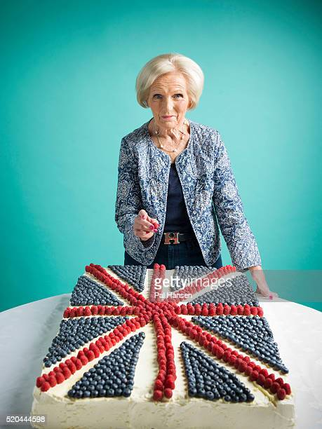 Chef and tv presenter Mary Berry is photographed for the Observer on May 28 2015 in London England