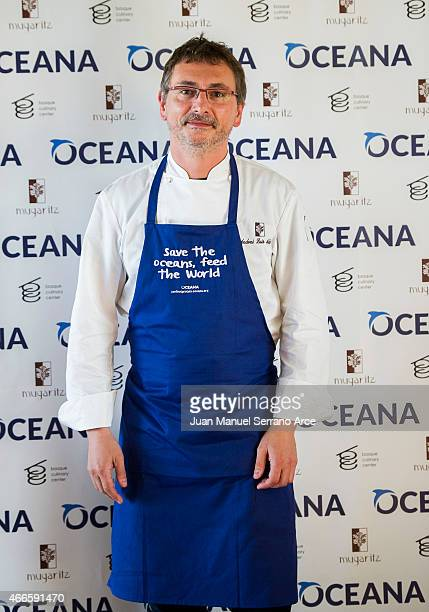 Chef Andoni Luis Aduriz attend 'Save the Oceans Feed the World' at Basque Culinary Center on March 17 2015 in San Sebastian Spain