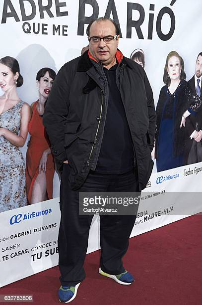 Chef Andrea Tumbarello attends 'La Madre Que Me Pario' premiere at the Figaro Theater on January 26 2017 in Madrid Spain