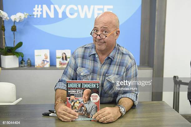 Chef Andrew Zimmern during the Grand Tasting presented by ShopRite featuring Samsung culinary demonstrations presented by MasterCard at the Food...