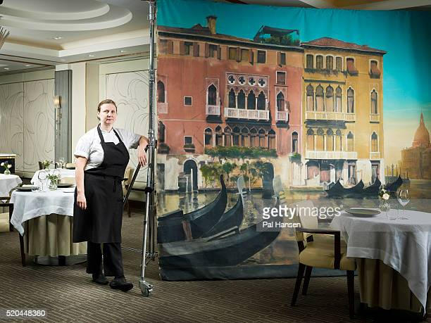 Chef Angela Hartnett is photographed for Waitrose magazine on May 19 2015 in London England