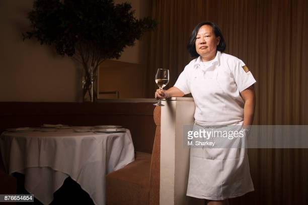 Chef Anita Lo is photographed for Out Magazine on June 26 2014 in her restaurant Annisa in New York City