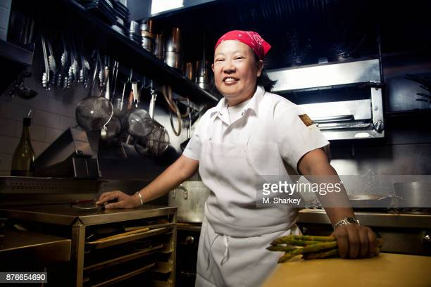 Chef Anita Lo is photographed for Out Magazine on June 26 2014 in her restaurant Annisa in New York City PUBLISHED IMAGE