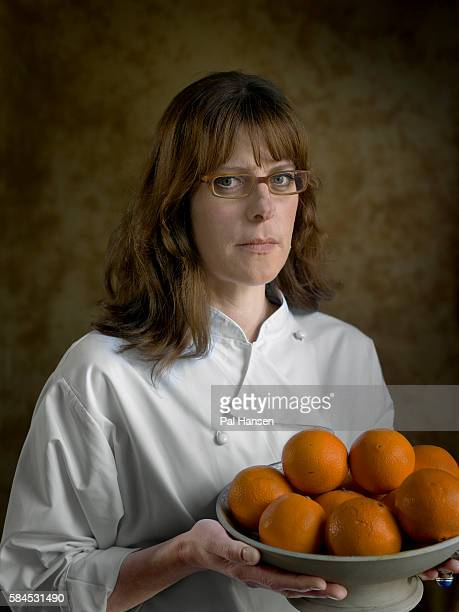 Chef Anna Hansen is photographed for the Observer on April 28 2014 in London England