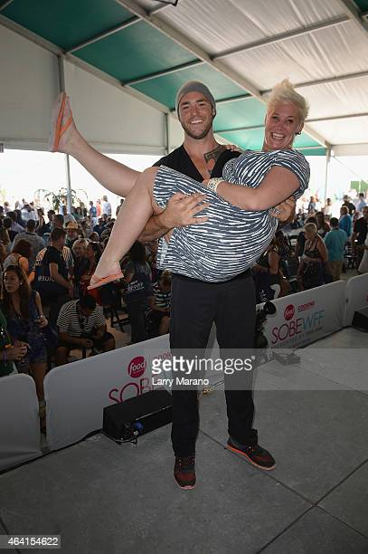 Chef Anne Burrell and guest on stage the Whole Foods Market Grand Tasting Village featuring MasterCard Grand Tasting Tents KitchenAid Culinary...