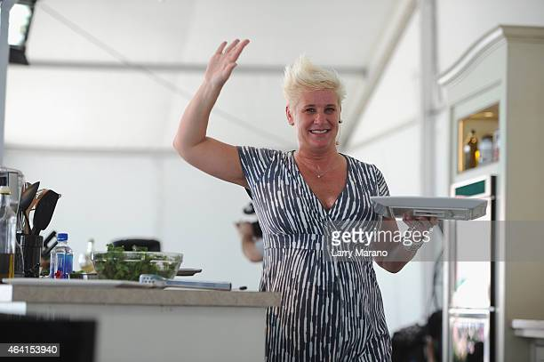 Chef Anne Burrell attend the Whole Foods Market Grand Tasting Village featuring MasterCard Grand Tasting Tents KitchenAid Culinary Demonstrations...