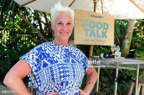 Chef Anne Burrell attends SiriusXM's Food Talk with Geoffrey Zakarian at Miami Beach EDITION on February 24 2017 in Miami Florida
