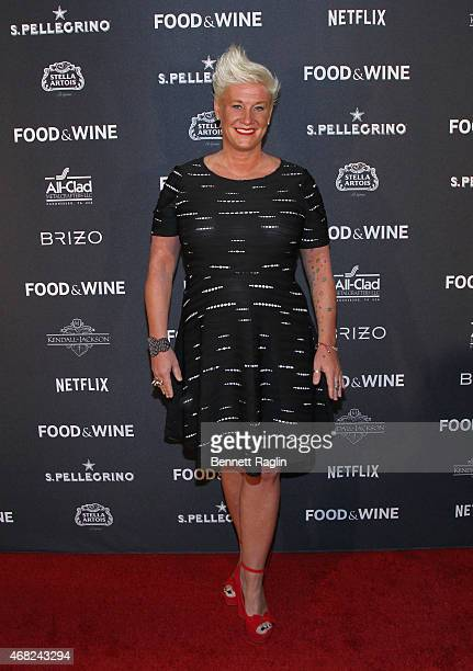 Chef Anne Burrell attends the 2015 Food And Wine Best New Chef Party at The Edison Ballroom on March 31 2015 in New York City
