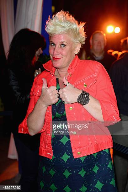 Chef Anne Burrell attends Thrillist's BBQ The Blues hosted by Anne Burrell during the 2015 Food Network Cooking Channel South Beach Wine Food...
