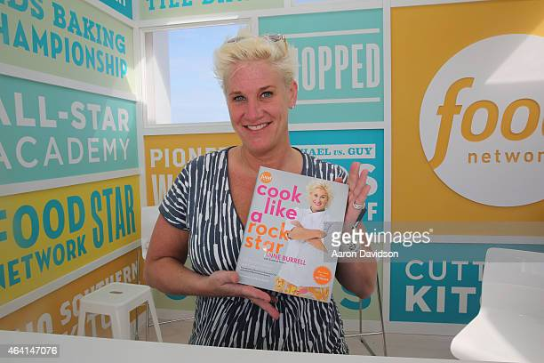 Chef Anne Burrell signs books at the KitchenAid Culinary Demonstrations during the 2015 Food Network Cooking Channel South Beach Wine Food Festival...