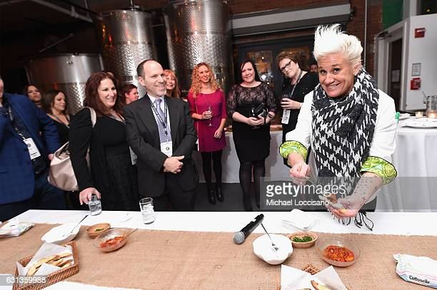 "Chef Anne Burrell teaches cardholders to make hors d'oeuvres at an event hosted by Inside Access from Chase to celebrate the inaugural ""Best Credit..."