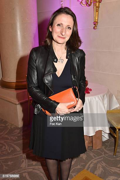 Chef Anne Sophie PicÊfrom La Dame de Pic attends 'Les Grandes Tables Du Monde' Cocktail at Four Seasons Georges V Hotel on April 7 2015 in Paris...