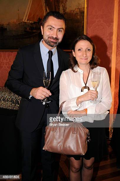 Chef AnneSophie Pic and David Sinapian attend RELAIS CHATEAUX 60th Anniversary Guest Chef Dinner Launch at Consulate General of France on October 1...