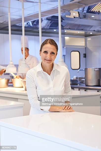 Chef AnneSophie Pic is photographed for Madame Figaro on August 16 2016 at her restaurant Andre in Valence France PUBLIHSED IMAGE CREDIT MUST READ...