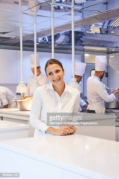 Chef AnneSophie Pic is photographed for Madame Figaro on August 16 2016 at her restaurant Andre in Valence France CREDIT MUST READ Bernhard...