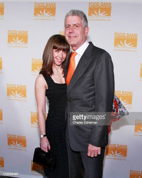 Chef Anthony Bourdain and wife Ottavia Busia attend the 2011 CanDo Awards Dinner at Pier Sixty at Chelsea Piers on April 7 2011 in New York City