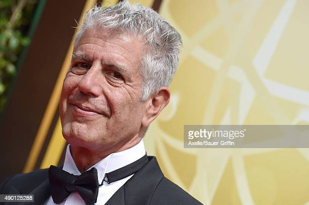 Chef Anthony Bourdain attends the 2015 Creative Arts Emmy Awards at Microsoft Theater on September 12 2015 in Los Angeles California