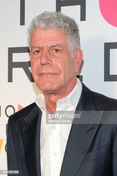 Chef Anthony Bourdain attends the 2018 Women In The World Summit at Lincoln Center on April 12 2018 in New York City