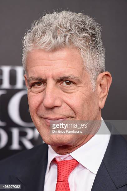 Chef Anthony Bourdain attends the premiere of 'The Big Short' at Ziegfeld Theatre on November 23 2015 in New York City