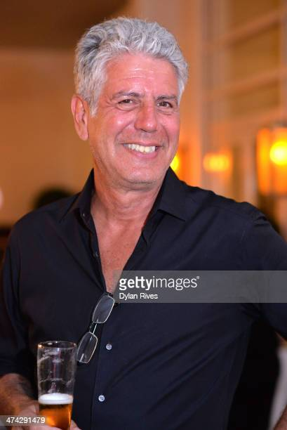 Chef Anthony Bourdain attends the Treme The Heart Of New Orleans dinner hosted by Anthony Bourdain Susan Spicer Wylie Dufresne Emeril Lagasse during...