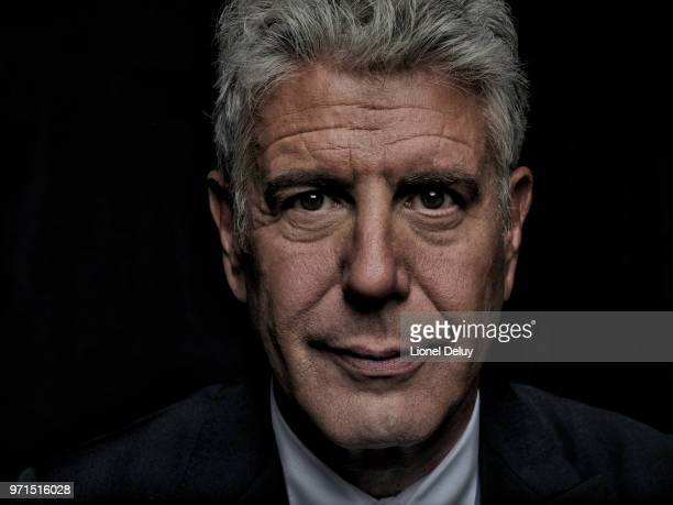 Chef Anthony Bourdain is photographed for The Taste on January 14 2015 in Los Angeles California