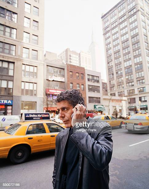 Chef Anthony Bourdain is photographed in June 2003 in New York City
