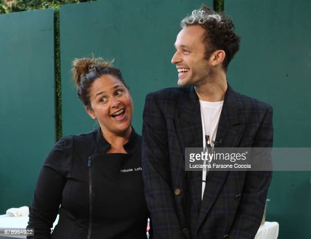 Chef Antonia Lofaso and singer Wrabel at VH1 Save The Music Foundation's Musically Mastered Menu Los Angeles at Lombardi House on May 4 2017 in Los...