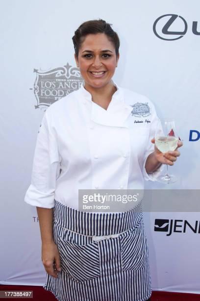 Chef Antonia Lofaso attend the Festa Italiana with Giada de Laurentiis opening night celebration of the third annual Los Angeles Food & Wine Festival...