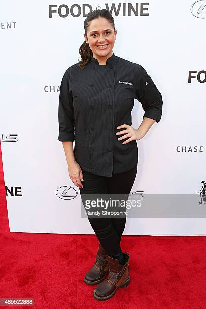 Chef Antonia Lofaso attends the 5th Annual Los Angeles Food Wine Festival on August 27 2015 in Los Angeles California