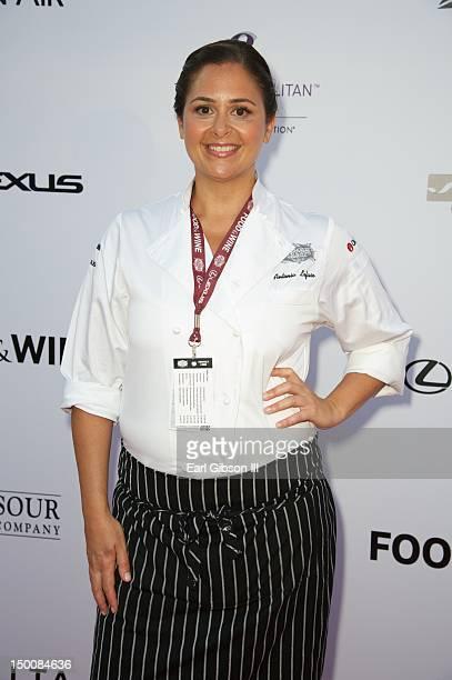 Chef Antonia Lofaso attends the Los Angeles Food Wine Festival at Nokia Plaza LA LIVE on August 9 2012 in Los Angeles California