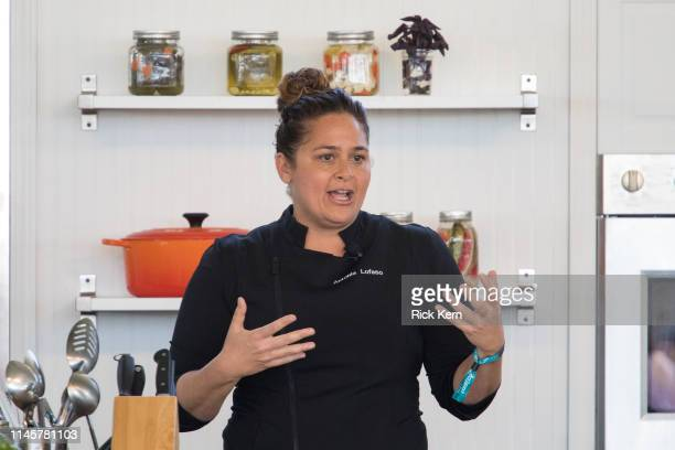 Chef Antonia Lofaso hosts 'Shrimp Toast of the Town' during the Austin FOOD WINE Festival at Auditorium Shores on April 28 2019 in Austin Texas
