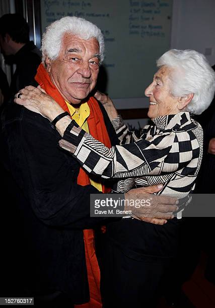Chef Antonio Carluccio and Elle Smith Juda attend a party to celebrate the release of his memoir 'A Recipe For Life' at Carluccio's Garrick Street on...