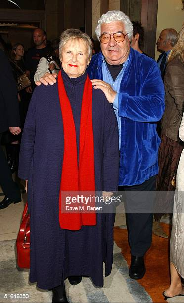 Chef Antonio Carluccio and his wife Priscilla attend the The Harpers Moet Restaurant Awards 2004 at Claridge's Hotel on November 1 2004 in London The...