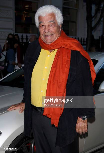 Chef Antonio Carluccio arrives at a party to celebrate the release of his memoir 'A Recipe For Life' at Carluccio's Garrick Street on September 25...