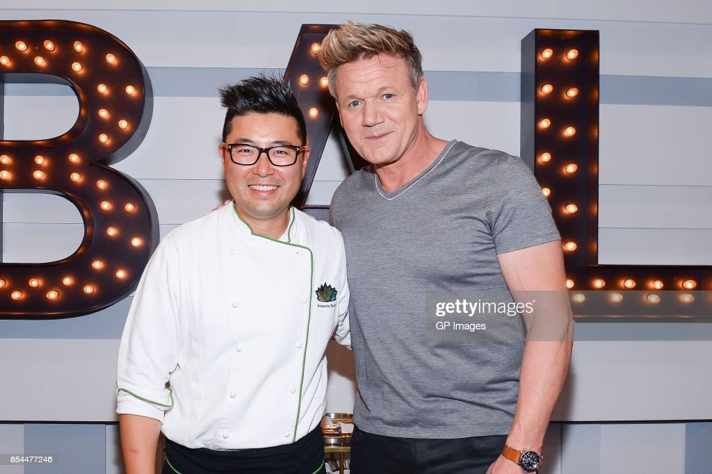 Chef Antonio Park and Chef Gordon Ramsay attends the AMEX