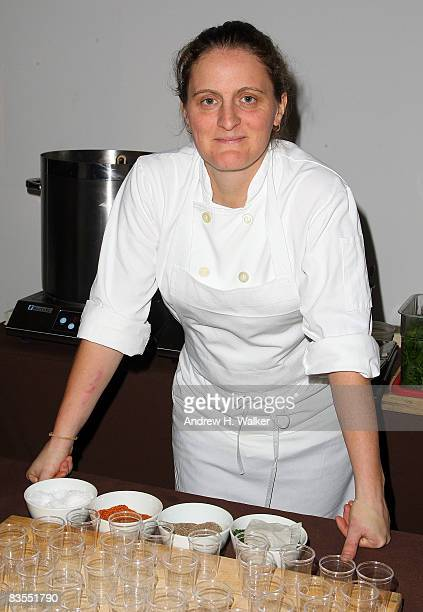 Chef April Bloomfield from The Spotted Pig attends the 2008 New York Media's New York Taste event at Skylight on November 3 2008 in New York City